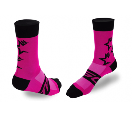CALCETINES CICLISMO ROSA MSC
